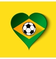 Brazil Heart icon with Brazilian Flag vector image