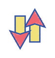 color arrows loading in process icon vector image