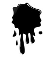 illustration of black ink splash vector image