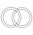 two bonded wedding rings the black color icon vector image
