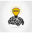 Idea of a brain vector image vector image