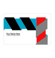 3d ribbon concept business card style vector image