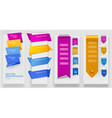 Collection of colorful origami paper banners Vector Image