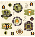 Beer badges and labels in vintage style vector image