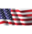 american flag waving vector image