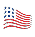 American wave flag Independence Day vector image