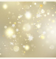christmas glowing golden template eps 10 vector image