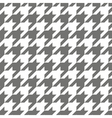 Houndstooth grey and white tile background vector image