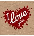 I love you lettering in splash design vector image