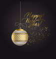 Luxury black and gold abstract xmas pattern vector image