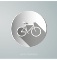 paper icon bicycle vector image