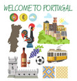 portugal travel tourism welcome poster template vector image