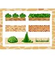 Set of elements for landscape design vector image