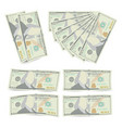 100 dollars banknote stack one hundred vector image