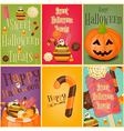 halloween posters vector image
