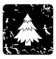 Fir tree icon grunge style vector image