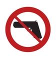 prohibited sign road gun weapon danger arm vector image