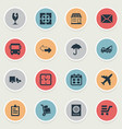 set of simple surrender icons vector image