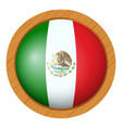 flag icon design for mexico vector image