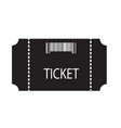 Ticket icon on white background flat style vector image