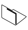 folder digital document vector image
