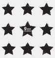 Grunge stars vector image vector image