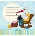 stork knits baby clothes vector image