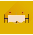 Flat web icon with long shadow romantic dinner vector image
