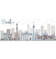 Abstract Berlin skyline with color building vector image
