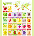 alphabet food infographics fruit vegetable vector image