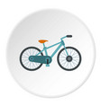 bicycle icon circle vector image
