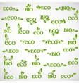 Big collection of Eco icons vector image