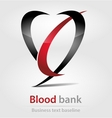 Blood bank business icon vector image