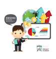 Business design conference man infographic present vector image