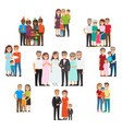 gathered family for holidays and special events vector image