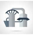 Hydropower plant icon vector image