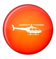Military helicopter icon flat style vector image