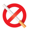 No smoking Isolated on white background vector image