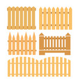 set of fences vector image