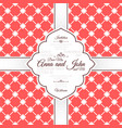 vintage red spanish pattern invitation card vector image