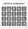 world crypto currency sign collection vector image
