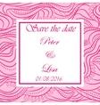 Wedding invitation waves background pink vector image