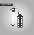 black and white style icon construction crane and vector image