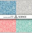 chemistry symbols pattern vector image
