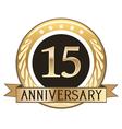 Fifteen Year Anniversary Badge vector image