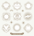 Set of line design emblem and hipster labels vector image vector image