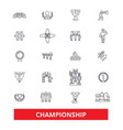 championship champion winner athlete vector image