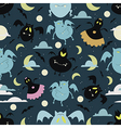 Halloween bat pattern 01 vector image