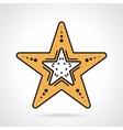 Starfish flat style icon vector image