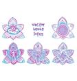 tattoo henna lotus vector image